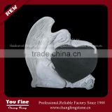 Western Marble Stone Angel Heart Headstone Monument Tombstone