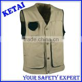 High Quality Mens Cotton Multi Pocket Canvas Work Vest