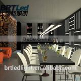 Modern design 40W LED pendant light/ LED office pendant light/Linear suspended led light 4000lm
