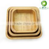 leaf shaped bowls wood boat bowl bamboo personalized salad bowl