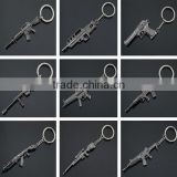 new fashion custom cheap metal war fighting gun pom pom keychain