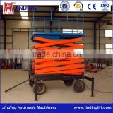 Movable hydraulic driven motorcycle scissor lift table