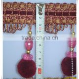 pom pom ball fringe for curtain accessories