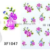 Water Flowers Transfer WRAPS STICKERS Polish Foils Decals Nail Art Tips Decoration Hot