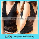 Women sexy lace vest deep V-neck corset camisole low-cut basic tank tops