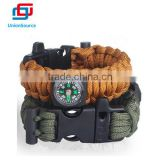 paracord bracelet with compass buckle with whistle and flint size S M L                                                                                                         Supplier's Choice