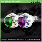 Factory Price Universal Double Angel Eyes Projector Lens With H1 Bulb HID Bi-Xenon Xenon Projector Lens Car LED Light Angel Eyes