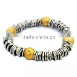 Jump rings gold beads design bracelets china factory 316l stainless steel jewelry discount stainless steel jewelry (LB3194)