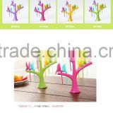 little best quality lovely colorful small fruit fork /new design plastic bird fruit fork                                                                         Quality Choice