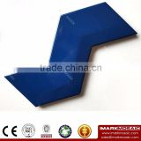 Imark AXIS Z Shape 3D- Effect Dark Blue Pure Color Gloosy Glazed Ceramic Wall Tile For Colorful Wall Decoration