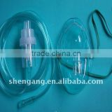 Medical disposable nebulizer with mask