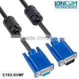 LC Factory Better Price SVGA Cable, Low Loss High Speed VGA Cable, DB9 Male to female Monitor Video cable