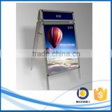 Portable round corner pavement poster board with head, a board, folding a frame sign, sign board