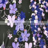 Wholesale 75D*75D High twist Polyester calico digital Print chiffon fabric for Skirt fabric