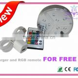 Hot selling RGB battery operated SMD led party light base/RGB vase light for event decoration