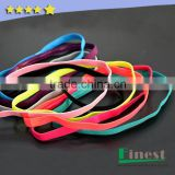 BSCI Audit Factory Wholesale Custom Logo Unisex Elastic Head Band Silicone Hair band Non Slip Hairband