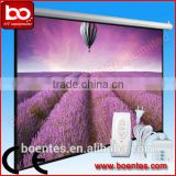 Wall Mount Projector Matte White Motorized Projection Screen with 4:3 84~150 Inch Screen