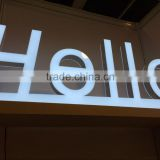 sign plastic letters advertising front light acrylic 3d led channel letter lighted hello signs