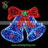 2015 hot style bell motif lights garland lights for home decoration