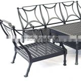 Luxury Modern aluminum High Wing Back Metal Furniture Leather Steel Frame Relax Superior cheap aluminum sofa