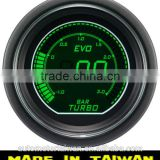 52mm digital green / white LCD Boost gauge / 52mm auto gauge for turbo/sensor included