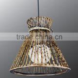 2015 Hot sale brown bamboo hanging rattan pendant lamp