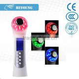 BU09 multifunctional beauty machine standard penetration removing facial wrinkles with LED display vibration for cosmetic massag