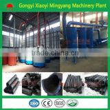 Hoist cylinder type wood briquettes carbonization furnace/lump charcoal making kiln/bamboo carbonized stove