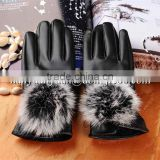 Dongjie heat resistant winter motorcycle gloves women leather gloves
