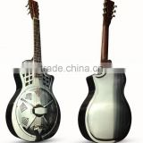 40 inch chrome metal resonator guitar with blues slide