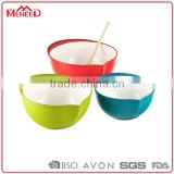 Factory directly sale wholesale different colors melamine stirring bowl set, set of 3 plastic mix bowl