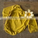 0-24M Baby Clothes Wholesale Toddler Plain Yellow Jumpsuit Baby Girls Cotton Long Sleeve Romper