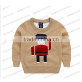 Garment Knitted Baby Wear Boys Sweater Boys Long-sleeved Cotton Crochet Sweater Pullover