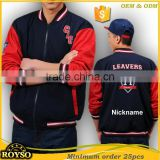Customize Custom Made Fashion Mens Letterman Cheap High School American Varsity Unifroms Baseball Winter College Bomber Jackets