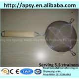Assorted kitchen craft sieves stainless steel cooking strainers mini fryer baskets