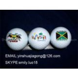 Free Customized logo print golf 2 layer golf ball clubs brand new golf balls Soft golf balls
