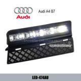 AUDI A4 B7 05-08 DRL LED Daytime Running Lights Car headlight parts Fog lamp cover
