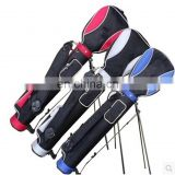 nylon waterproof pencil golf bag with stand