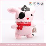 Pink Cat Pattern Plush Pirate Hero Cat Toy/Standing Cat Stuffed Plush Toy