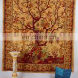Indian Cotton Tree Of Life Mandala Hippy Wall Hanging Tapestry Ethnic Decorative Beach Textile Throw Bedspread Bed Decor Sheet