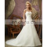 Gorgeous strapless wedding gown for women