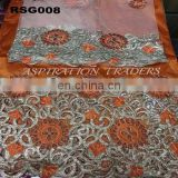 India manufacturer george embroidery fabric, embroidery silk george, embroided curtain fabric