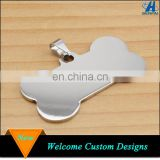 China supplier zinc alloy metal custom stamping bone shape blank dog id tag for dog accessories
