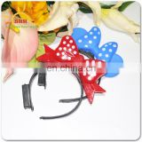 Plastic Cute Hair Hoop For Dancing led flashing light up headbands Party flashing Hair Clasp