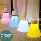 LED Badminton Lamp, Wall Lamp, Table Lamp