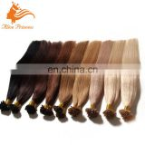 Virgin Brazilian Hair U Tip Hair ExtensionS Remy Human Hair Silky Straight 1# 1B 2# 4# 6# 12# &18# 27# 613# In Stock