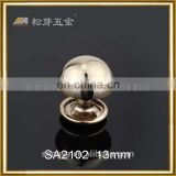 Gold Color Plated Handbag Rivet Screws, Glossy Plated Srews Fitting For Bag Clutch