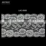 Raschel Lace Elastic Scalloped Nylon Lace Trim