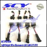 LQ4 LQ9 4.8 5.3 6.0 Delphi wire Harness to LS1 LS6 LT1 EV1 Injector Adapters