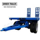 2/3 axles air suspensipon towing turntable draw bar low bed full trailer for sale